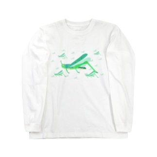 サバクトビバッタ 孤独相 群体・蝗害  Long sleeve T-shirts