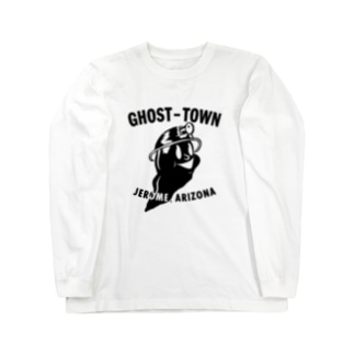 GHOST TOWN_BLK Long sleeve T-shirts