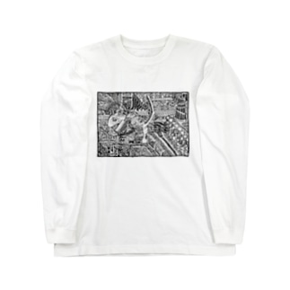 51-86のナイトメア Long sleeve T-shirts