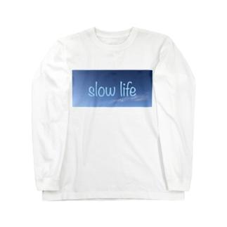 スローライフ Long sleeve T-shirts