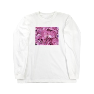 紫陽花と花詞 Long sleeve T-shirts