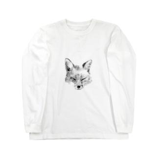 キツネ Long sleeve T-shirts