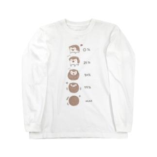 ハリネズミさんのご機嫌ナナメ度 Long sleeve T-shirts