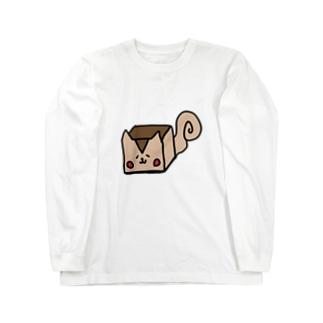 四角いリス Long sleeve T-shirts