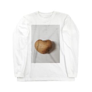 ハートジャガイモ Long sleeve T-shirts