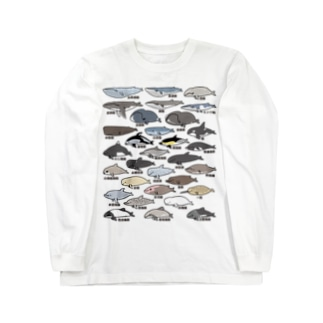 ゆるホエール(和名・漢字) Long sleeve T-shirts