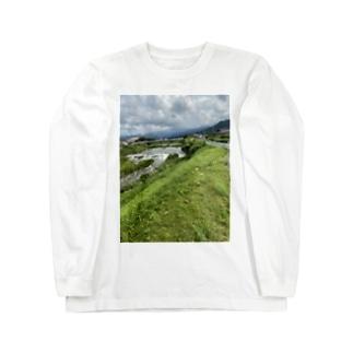 kawachu5の室見川増水 Long sleeve T-shirts