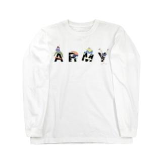 SKATER [ARMY] Long sleeve T-shirts