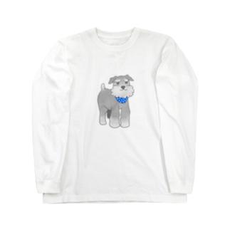 スカーフシュナウザー Long sleeve T-shirts