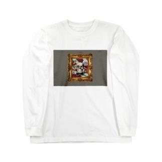 PSY-VOGUEのスカル コラージュ Long sleeve T-shirts
