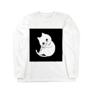 ぽろぽろネコ Long sleeve T-shirts