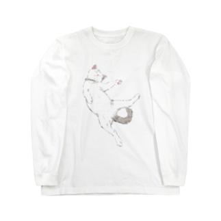 白ふわこねこ Long sleeve T-shirts
