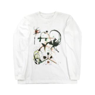 満ちる(ヲシテ文字) Long sleeve T-shirts