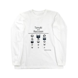 Tanuki and raccoon Long sleeve T-shirts