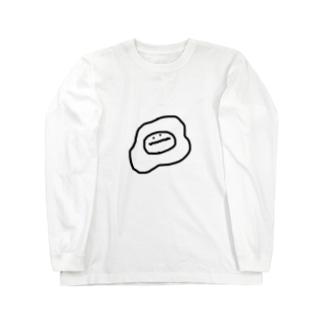 ぎざぎざ 目玉焼きくん Long sleeve T-shirts