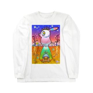 ワイルド豚モグラ Long sleeve T-shirts