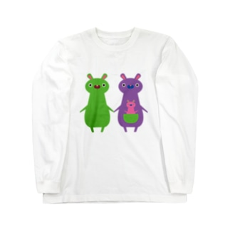 カンガルー親子 Long sleeve T-shirts