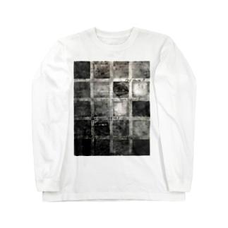 グリッドアート Long sleeve T-shirts