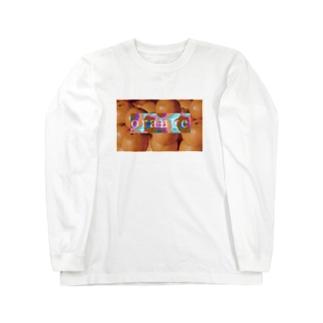 orange Long sleeve T-shirts