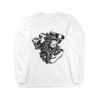 ハーレーエンジン Long sleeve T-shirts