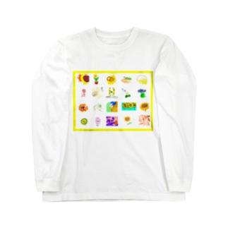 オールヒマワリ Long sleeve T-shirts