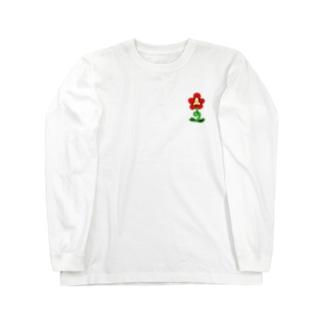 ワンポイントおはな Long sleeve T-shirts