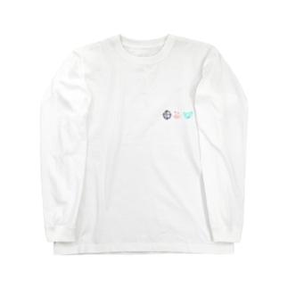 ヒトシオムSHOPのちっちぇ〜マーク Long sleeve T-shirts