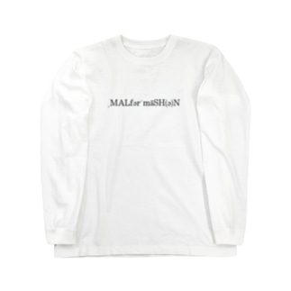 MALFORMATION 黒/DB_24 Long sleeve T-shirts