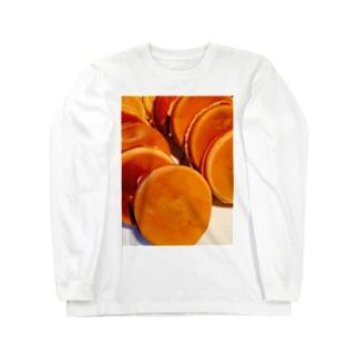 今川焼の整列 Long sleeve T-shirts