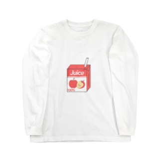 リンゴジュース Long sleeve T-shirts