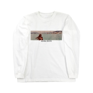 ALOHA WAVE  Long sleeve T-shirts