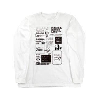 ロゴロゴ パンダ Long sleeve T-shirts