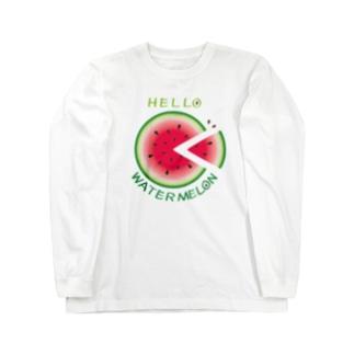 CT36!スイカの輪切り Long sleeve T-shirts