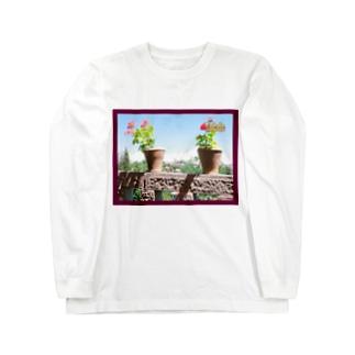 スペイン:トレドの遠景写真 Spain: Toledo Long sleeve T-shirts