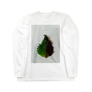 半分な紫蘇 Long sleeve T-shirts