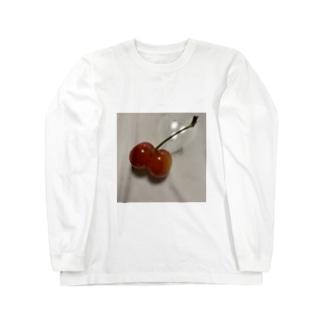 プリプリさくらんぼ Long sleeve T-shirts