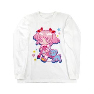 ONNANOKO【Pink】 Long sleeve T-shirts