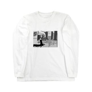 妄想どんちゃんカフェ Long sleeve T-shirts