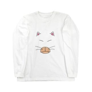 のらねこすとりぃとBIG FACE Long sleeve T-shirts