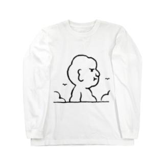 入道さんあらわる Long sleeve T-shirts
