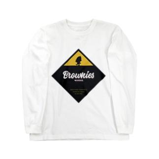 Brownies Worksプレート Long sleeve T-shirts