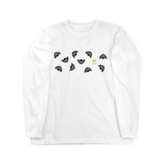 ちらばるロゴマーク(配分逆) Long sleeve T-shirts