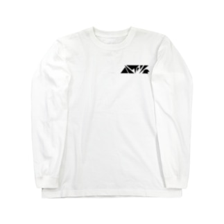 ハイツ(黒文字) Long sleeve T-shirts