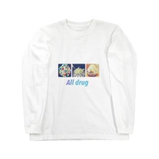 どれもグッ飛び Long sleeve T-shirts