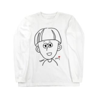 キノコヘアーの少年 Long sleeve T-shirts