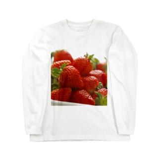 山積みいちご Long sleeve T-shirts