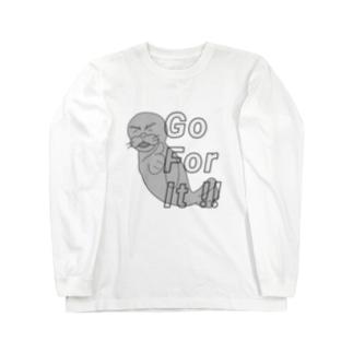 あざらし Go For It !! Long sleeve T-shirts