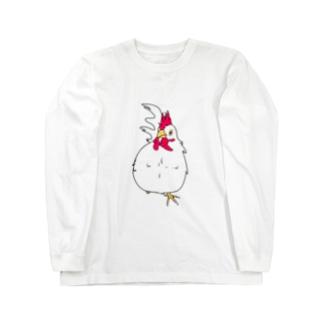かわいい鳥類!! Long sleeve T-shirts