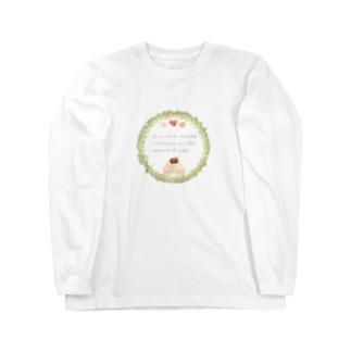 《ボタニカル01》*べあとリースとチョコレート* Long sleeve T-shirts