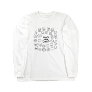 Heart nose DOGS(丸型) Long sleeve T-shirts